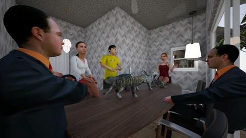 a cat meowting - Modern - Living room  - by saa2020