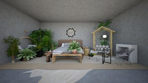 rainforest jungle bedroom - Bedroom - by Corgi Lover
