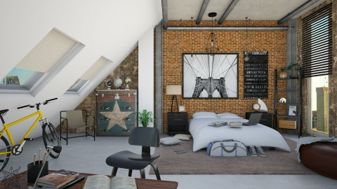 Walter's Loft - Modern - Bedroom  - by DeborahArmelin