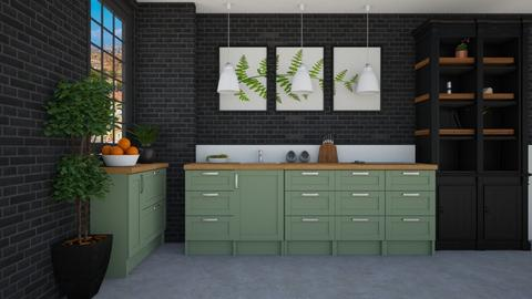 Black and Green Kitchen - Kitchen  - by Tanem Kutlu