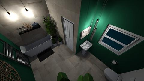 Plant bathroom at night - Bathroom  - by deleted_1611429780_bobtastic8