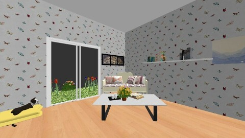 summer - Living room - by pikachuXtoriX