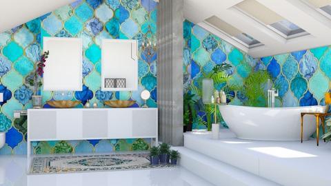 Turquoise bath - by Aymee Estrella