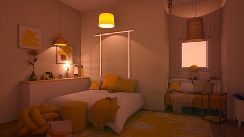 Lemon Theme Dream - Modern - Bedroom  - by matildabeast