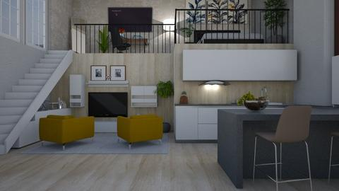 Mezzanine apartment - by jarkaD