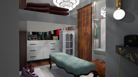 Walk in Closet e - by Evie_interior