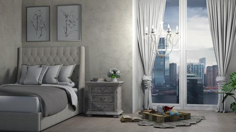 Stormy Day Bedroom - Bedroom  - by ivetyy1010