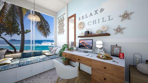 Beach Vibes - Rustic - Office  - by karisahsalim