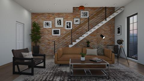 Industrial Living - Living room  - by chocolatedonut71