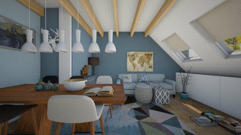 Scandinavian attic  - Living room - by AnnaMull