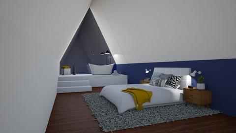 Night sky bedroom - Bedroom  - by BettyMalaga