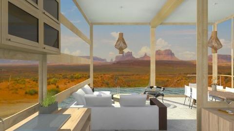 Wood House In The Desert - Modern - Kitchen  - by giulygi
