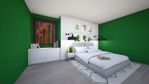 Modern bed  - Bedroom  - by Puppies44