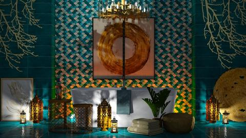 Gold and Turquoise - Bathroom  - by millerfam