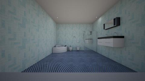 Blue Bathroom - Rustic - Bathroom  - by jaiden2006