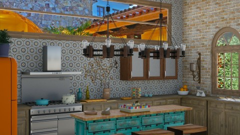 Casita - Rustic - Kitchen  - by Kathran