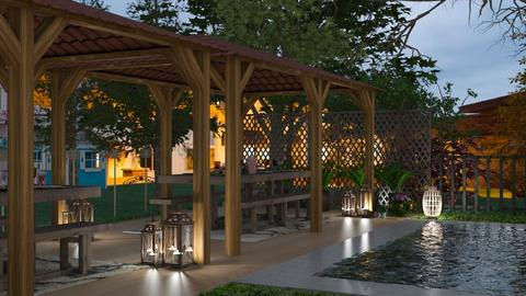 Dinner outside - Modern - Garden  - by MB2006