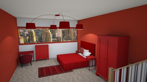 Red Red - Bedroom - by designcat31