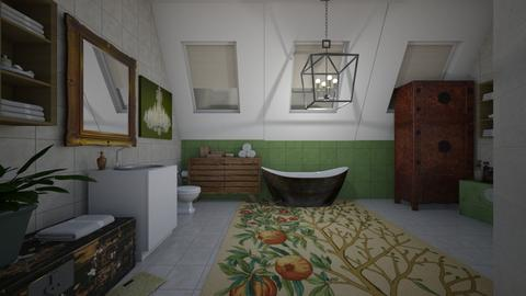 attic bathroom - Country - Bathroom  - by kla
