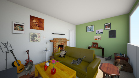 Livirm kitch k manor - Vintage - Living room  - by karlosakitty