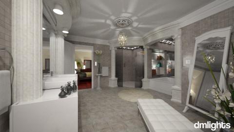 Colonial1 - Vintage - Bathroom  - by DMLights-user-981898