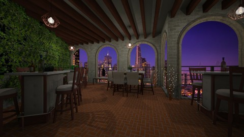 rooftop bar - Rustic - Garden - by ShaynaHowell