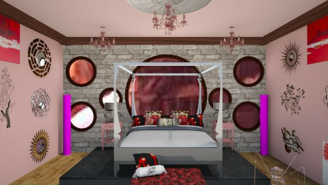 Dutchess Ruby Steampunk - Retro - Bedroom - by AshiraLevana