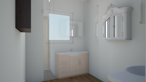 3rd idea leaving walls - Minimal - Bathroom  - by Romancikremodel