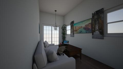 The first cat 2 - Modern - Living room  - by a5a5