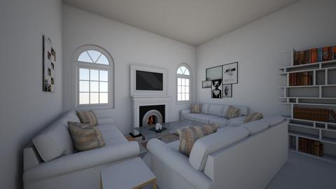 Only White design - Living room  - by Littlestars