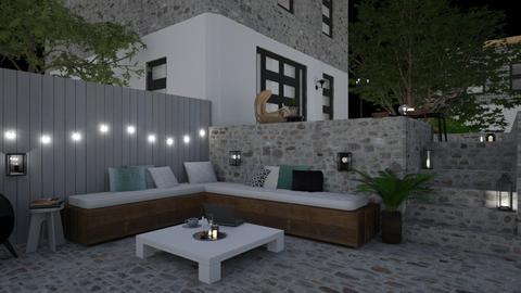 Cozy Night Garden - Garden  - by marleinxs