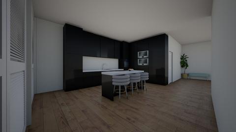 Black Kitchen - Kitchen  - by poppyashworth