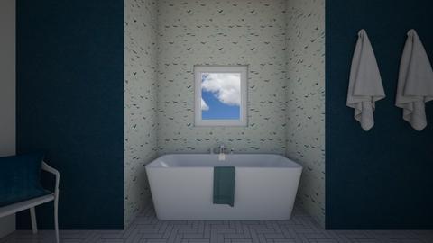 A Relaxing Blue Bathroom - Bathroom - by Design3690