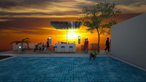 Pool party - Modern - by Louisa caulton