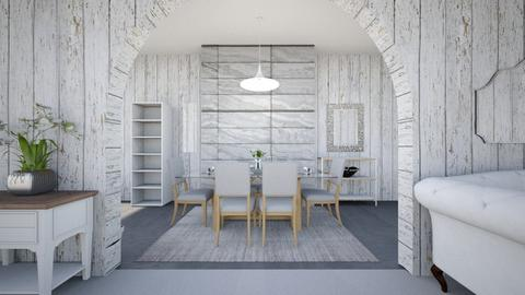 White Dining Room - Modern - Dining room  - by haileymilby