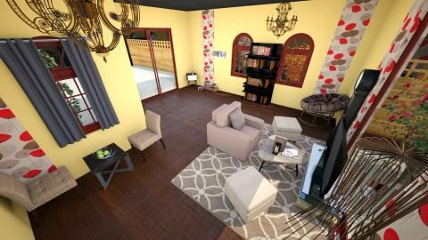 Vintage_Brown - Vintage - Living room - by piyatida Miu