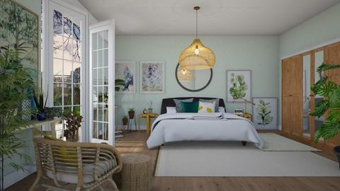 Botanical - Modern - Bedroom  - by janip
