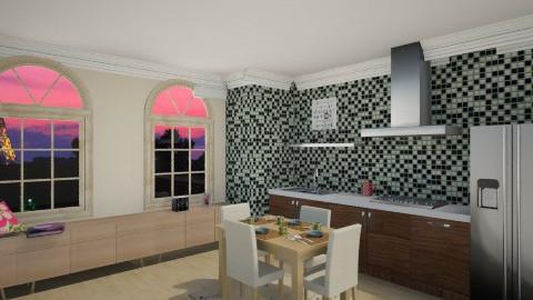 apartment kitchen - Glamour - Kitchen  - by mrrhoads23