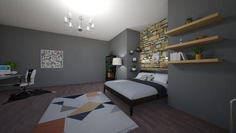 casual gamer room - Bedroom  - by ghhvghgvhvgvhvb