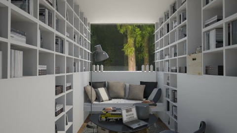 Books in the Woods - Minimal - by Maria Esteves de Oliveira