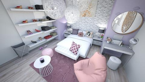 Purple and Pink  - Modern - Bedroom  - by Mint_2005
