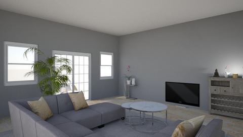 GH Living room _grey rug - Living room  - by vanessatenkorang