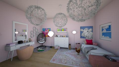 The Pink Room - Glamour - Bedroom - by fisssshhh
