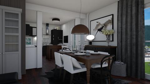 Grey Living - Living room  - by Eleonor Debus