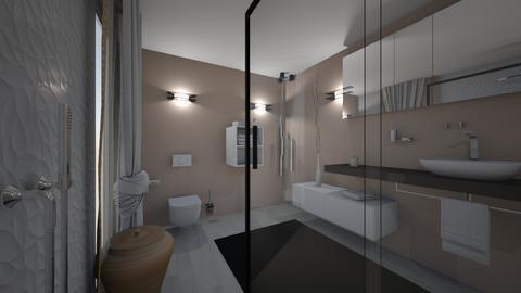 CLAU baie proiect 6 - Bathroom  - by Claudia Ilisan