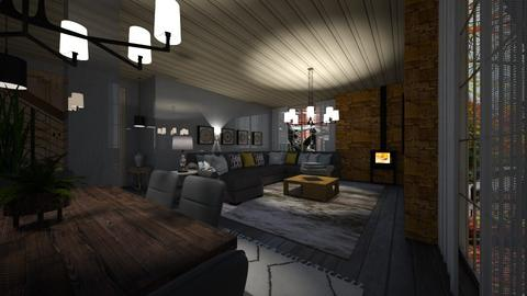 Grey night - Living room  - by nanabpf