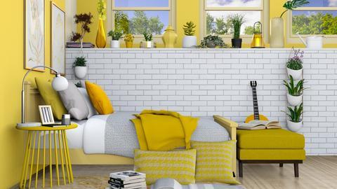 yellow bedroom - by malakabaza