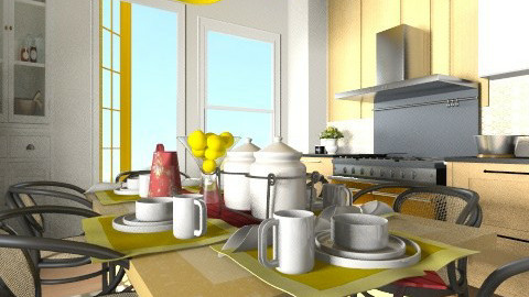 Kitchen 2 render - Country - Kitchen - by pachecosilv