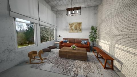 Whites and concrete - Retro - Living room  - by Faye Dela Cruz