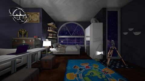 nightsky - Bedroom  - by PAPIdesigns